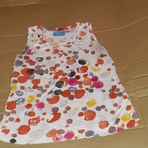 Cute tank top with different color dots